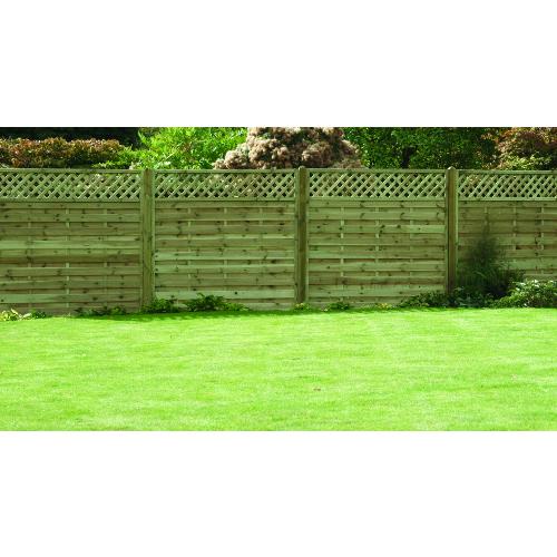 Horizontal-Lattice-Top-Fence-Panel