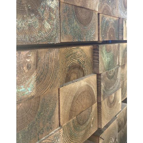 100mm-x-200mm-x-2400mm-Pressure-Treated-Brown-Softwood-Sleeper