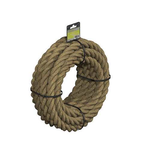 FENCEMATE®-Pre-Coiled-3-Strand-Manila-Rope-28mm-x-8m