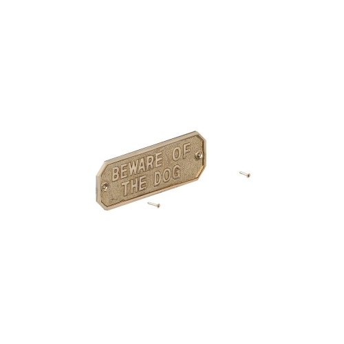 GATEMATE®-'Beware-Of-The-Dog-Sign-160mm-x-55mm-Brass