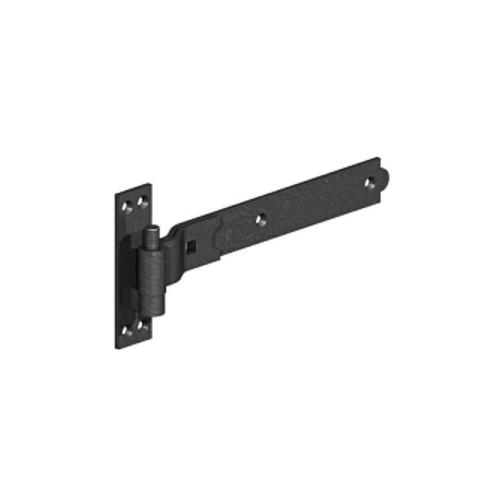 GATEMATE®-Cranked-Band-Hook-on-Plate-450mm-Epoxy-Black