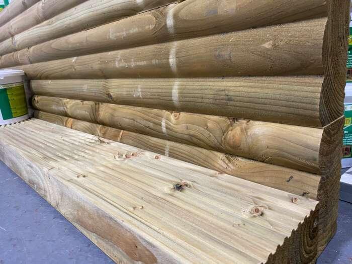 95mm x 190mm x 2400mm Pressure Treated Green Softwood Log Effect Sleeper